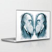 darwin Laptop & iPad Skins featuring Charles Darwin by Zandonai