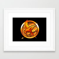 mockingjay Framed Art Prints featuring Mockingjay by Joshua Epling