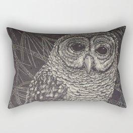 Illustrated Owl Rectangular Pillow