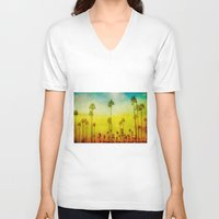 kerouac V-neck T-shirts featuring California Love by Honey Malek
