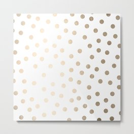Simply Dots in White Gold Sands Metal Print