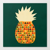 pineapple Canvas Prints featuring Pineapple by Picomodi