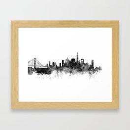San Francisco Black and White Framed Art Print