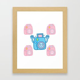 We are watching you. Say Cheese!!! Framed Art Print