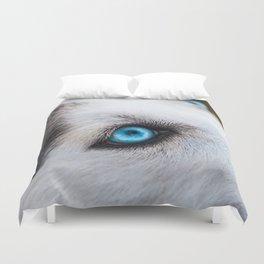 Siberian Husky Eyes (Color) Duvet Cover
