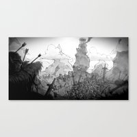 battlefield Canvas Prints featuring Ruined Battlefield by Simon Lutrin