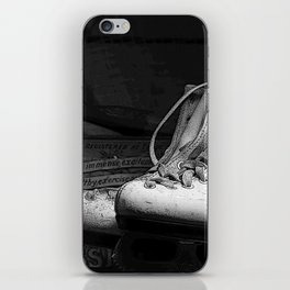 Vintge Skates-B&W iPhone Skin