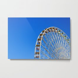 Back to my childhood - Ferris Wheel of Lyon - Fine Art Travel Photography Metal Print