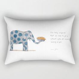 polka dot elephants serving us pie Rectangular Pillow