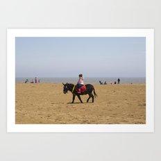 Donkey ride Art Print