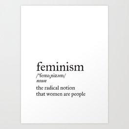 Feminism Definition Art Print