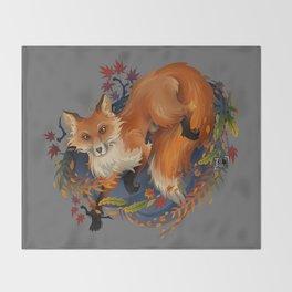 Sly Fox Spirit Animal Throw Blanket