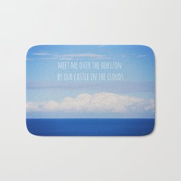 Meet me over the horizon Bath Mat