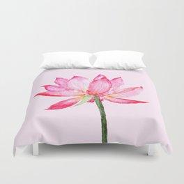 pink lotus flower Duvet Cover