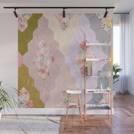 #06#Fabric in pieces pattern Wall Mural