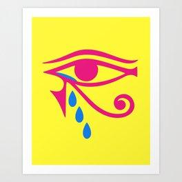 Eye of Horus Tears Art Print