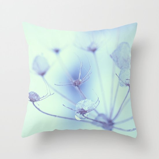 Ice Drops Throw Pillow