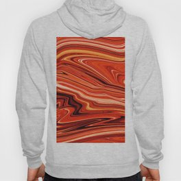 Modern Abstract orange and Yellow Layers Hoody