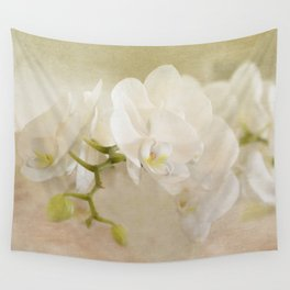 White Orchids Wall Tapestry