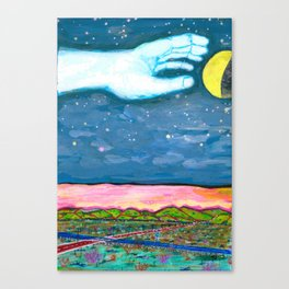 Moon Grab Canvas Print