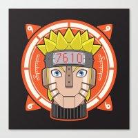 naruto Canvas Prints featuring Mecha Naruto by Enrique Valles