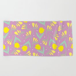 Tulip & Freesia Beach Towel