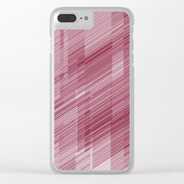 The Red Hash - Geometric Pattern Clear iPhone Case