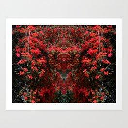 Mirrored Trees 11 Art Print