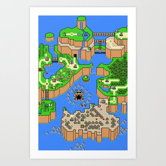 Mario World Art Print