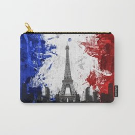 Eiffel Tower Painting Abstract Carry-All Pouch