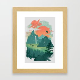 Lost Cove Framed Art Print