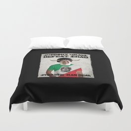Stop The Iran Deal Duvet Cover