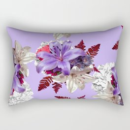 LILY PURPLE LILIES AND WHITE HYDRANGEAS Rectangular Pillow