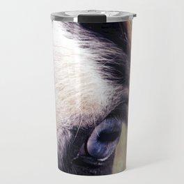 Blue Horse Eye Travel Mug