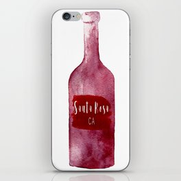 Santa Rosa, CA - Wine Country Love iPhone Skin