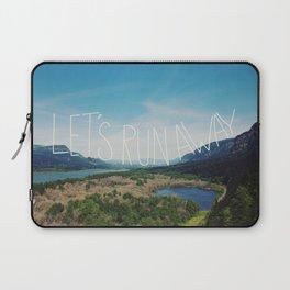 Let's Run Away: Columbia Gorge, Oregon Laptop Sleeve