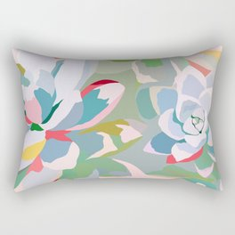 summer succulents Rectangular Pillow