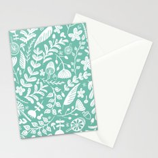 Forest Flora Green Stationery Cards