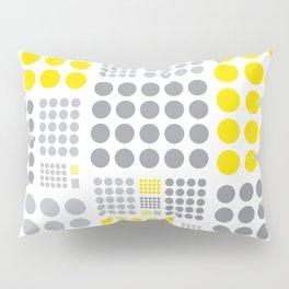 Yellow and Grey Polka Dots Pillow Sham
