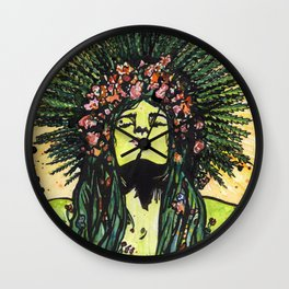 Green Goddess Wall Clock