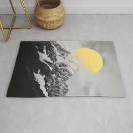 Moon dust mountains Rug