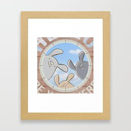 Sweet bunnies Framed Art Print