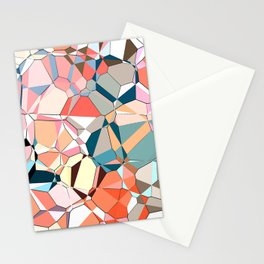 Jumble of Shapes And Colors Stationery Cards