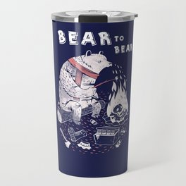 Bear In Winter Season Travel Mug