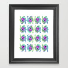 Colorful Heart Design Framed Art Print