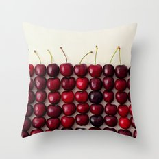 Cherry cherry quite contrary Throw Pillow
