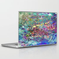 batik Laptop & iPad Skins featuring BATIK FISH by AlyZen Moonshadow