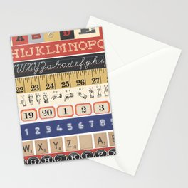 Washi Tape (Alphabet) Stationery Cards