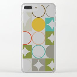 Mid Century Open Classic Clear iPhone Case