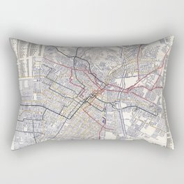 Los Angeles - Map of the railway systems - 1906 Rectangular Pillow